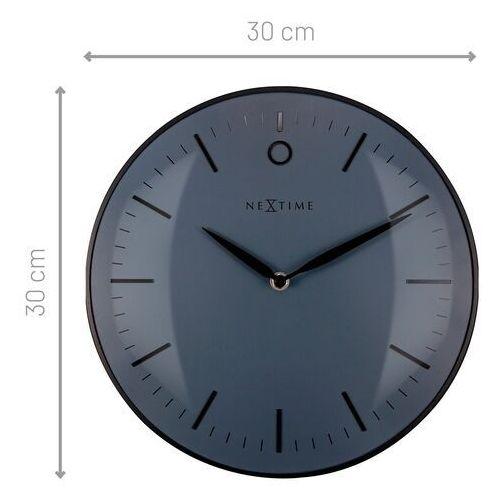 Zegar ścienny czarny glamour 30 cm (3256 zw) marki Nextime