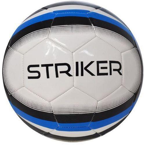 Piłka nożna AXER SPORT Striker Biało-Czarny (rozmiar 5) (5901780920401)