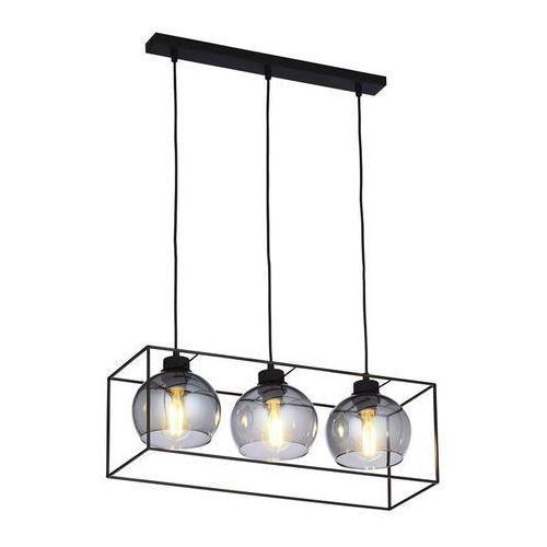 TK Lighting Sion 4029 lampa wisząca zwis oprawa 3x60W E27 czarna / grafit (5901780540296)