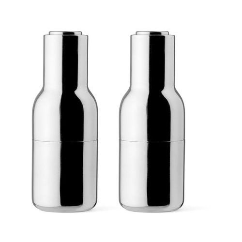 Młynek do pieprzu i soli bottle grinder 2 szt. stal polerowana marki Menu