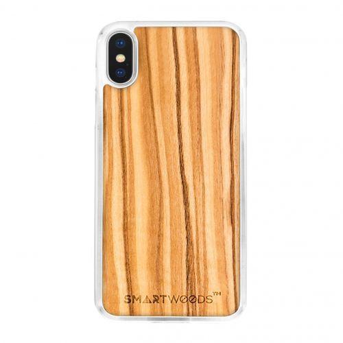 Etui SmartWoods – Oliwka Clear Iphone X, kolor zielony