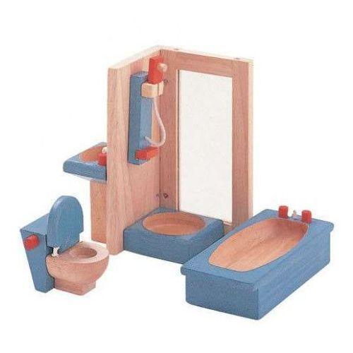 Plan toys Drewniane mebelki dekoracyjne do domku dla lalek - łazienka neo,