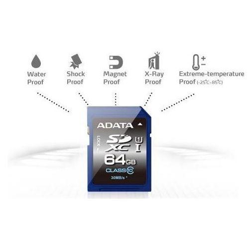 Karta pamięci ADATA SDXC 64GB Class 10 (ASDX64GUICL10-R) Darmowy odbiór w 21 miastach!, ASDX64GUICL10-R