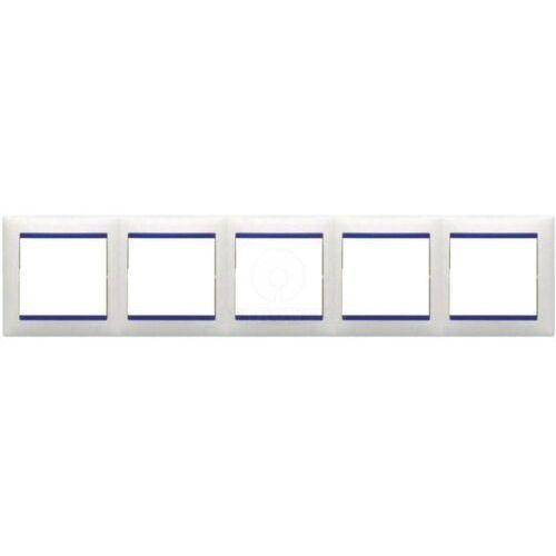Ramka pięciokrotna Legrand Valena 774465 biała / kryształ, kolor biały