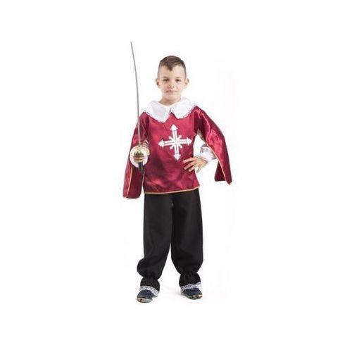 Aster Muszkieter bordowy kostium i przebranie dla dzieci - 128 cm