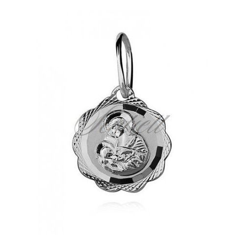 Sentiell Silver (925) pendant diamond cut blessed virgin mary / saint marry - gmd059