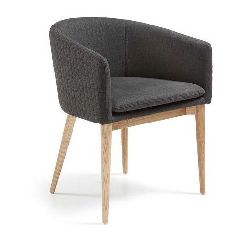Krzesło JOSE z podłokietnikami ciemnoszare - ciemnoszary