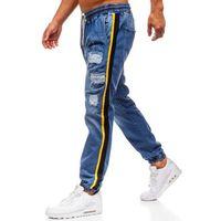 Spodnie jeansowe baggy męskie niebieskie Denley 2041, jeans