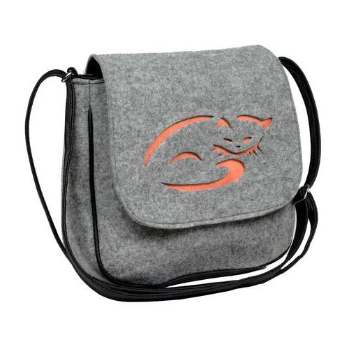 Tara Listonoszka filcowa torebka kot filc kotek orange - pomarańczowy