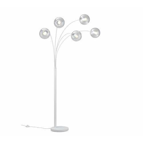 balini 408500531 lampa stojąca podłogowa 5x28w e14 biała/transparentna marki Trio