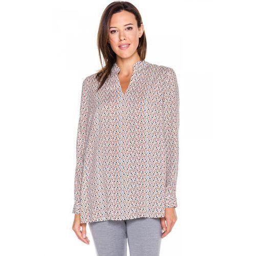 Bluzka w groszki z długim rękawem - Duet Woman, 1 rozmiar