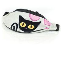Czarny kot nerka saszetka 32 cm marki Shellbag