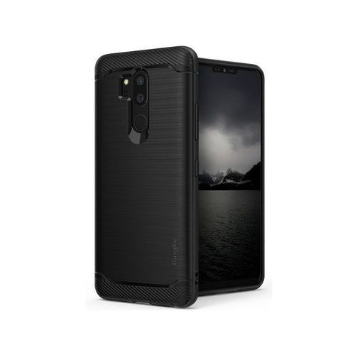 Etui Ringke Onyx LG G7 ThinQ Smoke Black + 3x Szkło I.D., kolor czarny