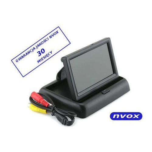 Nvox monitor lcd 4,3 cala flip-up 12v