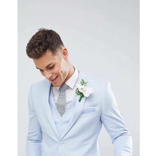 French Connection Wedding Linen Slim Fit Suit Jacket - Blue