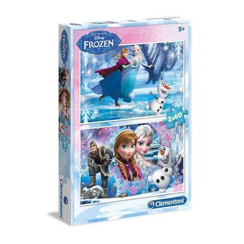 Puzzle 2x60 elementów frozen /07119 marki Clementoni