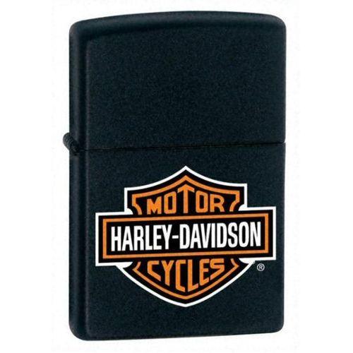 Zapalniczka zippo harley davidson, black matte logo (z218hdh252) marki Zippo / usa