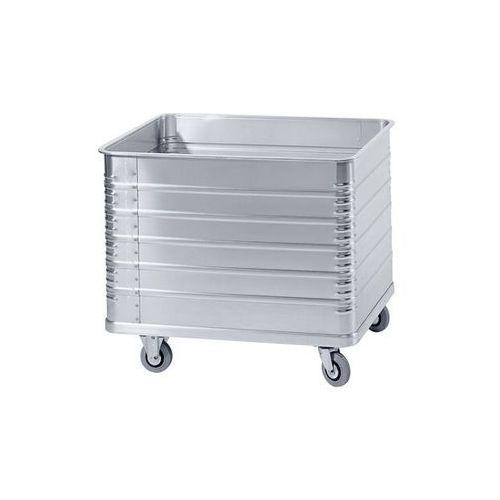 Zarges Aluminiowy wózek skrzyniowy, poj. 415 l, z profilem krawędzi i podłogi. odporne