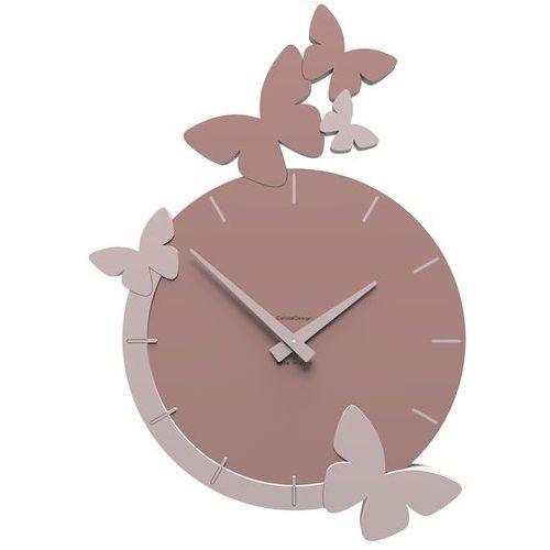 Zegar ścienny Flight of the Butterflies CalleaDesign pochmurny róż (50-10-3-33)