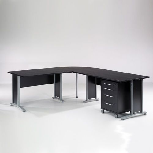 Biurko narożne Prima 200 x 200 Tvilum - czarny