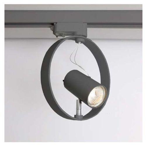 Shilo Reflektorowa lampa sufitowa wako 6605/gu10/sz metalowa oprawa do systemu szynowego 3-fazowego szary