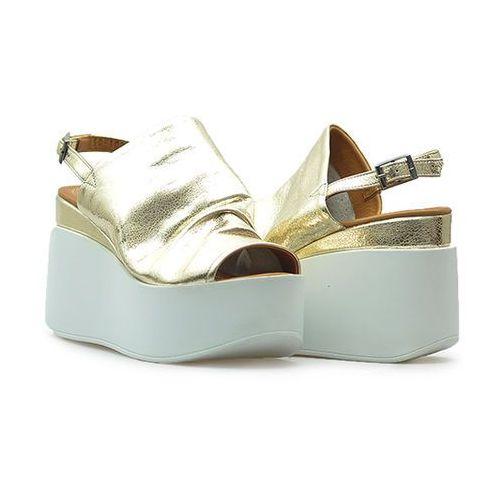 Sandały 501031 złote, Venezia