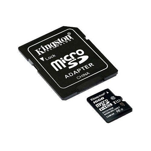 Karta pamięci sd-micro-10/16-king uhs-i, sdhc 16 gb marki Kingston