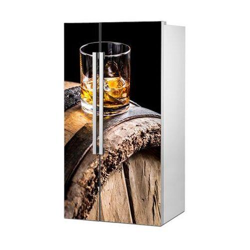 Stikero Mata magnetyczna na lodówkę side by side - whiskey na dębowej beczce 0724