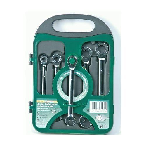 Zestaw kluczy płasko-oczkowych z grzechotką 6el. - M19827