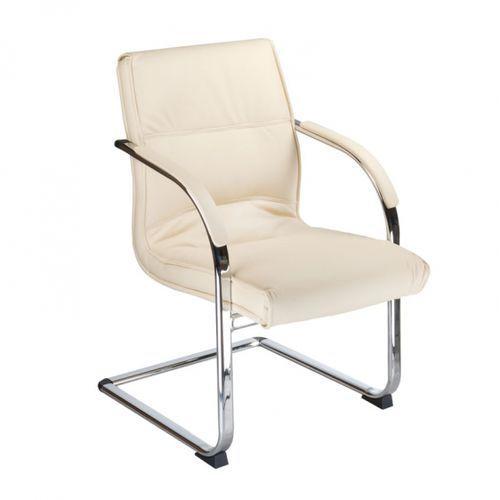 Beauty system Bx-3346 krzesło konferencyjne / do poczekalni kremowe, kategoria: akcesoria fryzjerskie