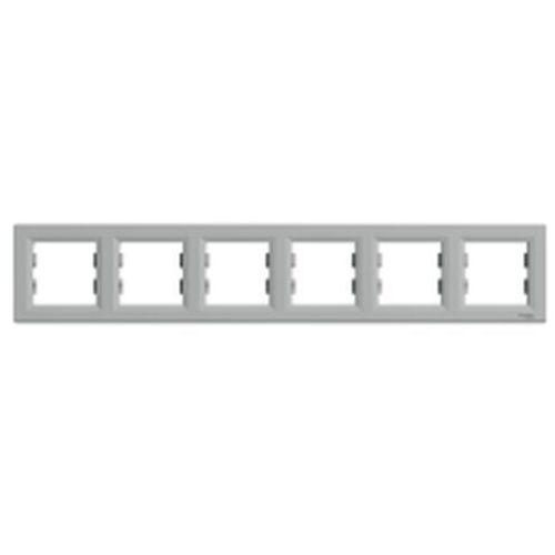 Schneider Asfora ramka 6-krotna pozioma aluminium eph5800661 (3606480728990)
