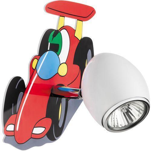 Lampa dla dziecka samochód wyścigówka - kinkiet car biały/ chrom led gu10 4,5w marki Britop lighting