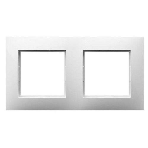 Ramka podwójna Ospel Aria R-2U/00 biała, kolor biały