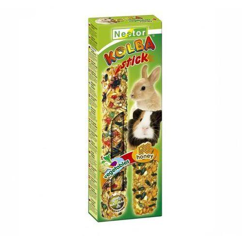 kolba 2 w 1 dla gryzoni i królików - miodowa i warzywna wyprodukowany przez Nestor