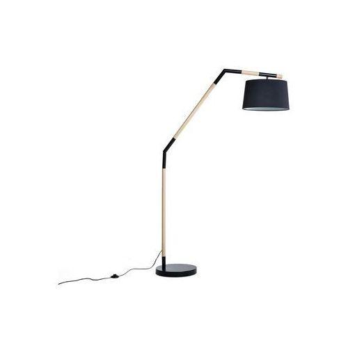 Beliani Lampa stojąca czarna - podłogowa - oświetlenie - nogat