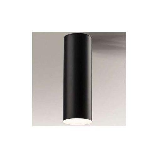 Plafon lampa sufitowa suwa 8003/gx53/cz minimalistyczna oprawa metalowa tuba ip44 czarna marki Shilo
