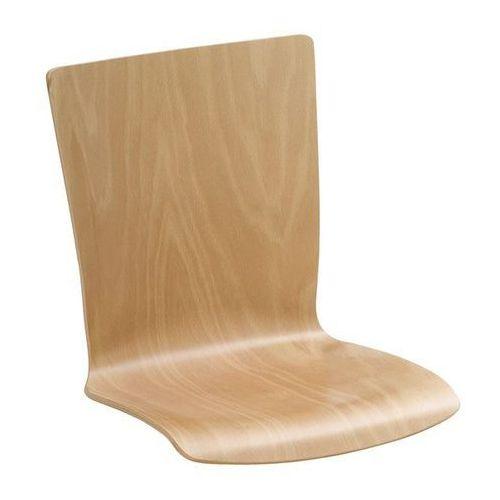 Krzesło z siedziskiem z drewna, opak. 2 szt., buk naturalny, prostokątne, z obic