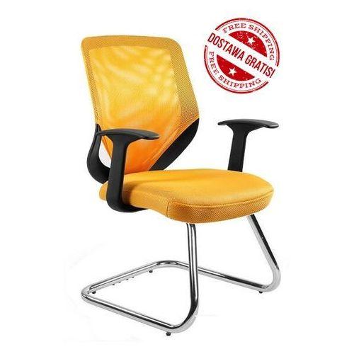 Unique Fotel obrotowy mobi skid żółty - outlet