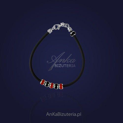 Anka biżuteria Bransoletka pandora z koralikami na kauczuku