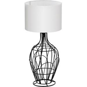 Stojąca lampa stołowa fagona 94607 abażurowa lampka nocna drut biała marki Eglo