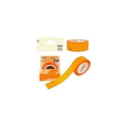 Taśma dekoracyjna 16mm x 10mm, pomarańczowa marki Stickn
