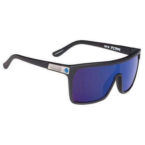 Spy Okulary słoneczne flynn soft matte black - happy bronze w/ dark blue spectra