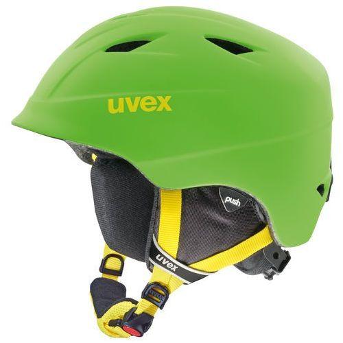 Uvex airwing 2 pro kask snowboard dzieci zielony kaski narciarskie (4043197210124)