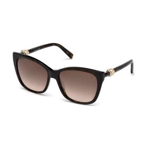 Okulary Słoneczne Swarovski SK 0129 52F, kolor żółty