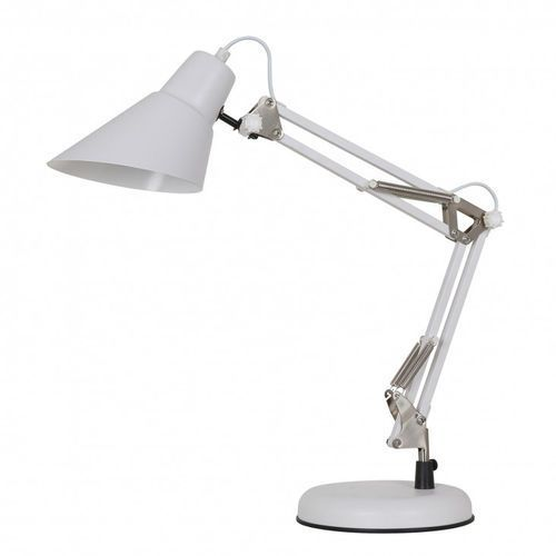 Lampka stołowa jason mt-hn2041 wh+s.nick 1x60w e27 biała marki Italux