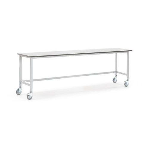 Mobilny stół roboczy MOTION, 2500x600 mm