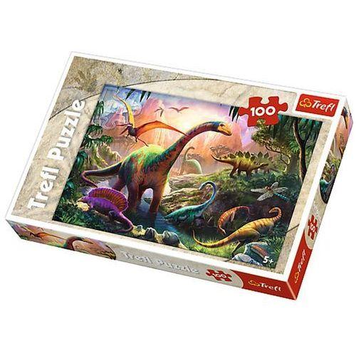Puzzle 100 swiat dinozaurow- marki Trefl