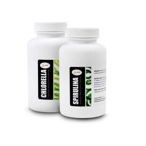 Tabletki Chlorella 400 tabletek + Spirulina 400 tabletek - Zestaw