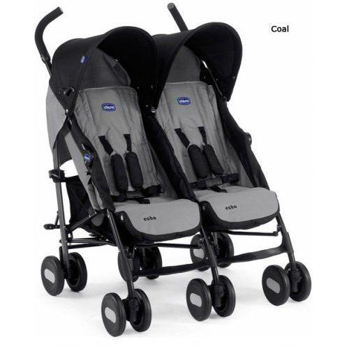 Chicco wózek sportowy podwójny echo coal kolekcja 2013/2014 (8003670878018)