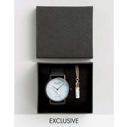 marble black watch and marble pendant gift set - black wyprodukowany przez Reclaimed vintage